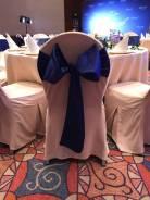 Аренда для мероприятия (ленты, стулья, столы, чехлы, скатерти)