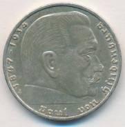 2 марки 1939г. Германия (А) Серебро.