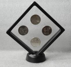 Набор 25 руб монет Сочи. чекан 2014 года. в подставке