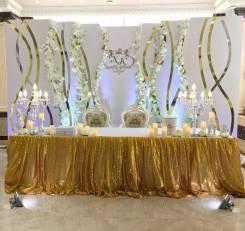 Свадебный декор- выездная регистрация, фотозона, президиум, аксессуары