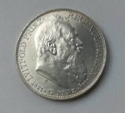 Бавария 2 марки 1911г aUNC Ag900