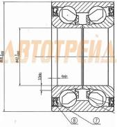 Подшипник FR ступицы MAZDA 3/AXELA BK#, BL# 03-, MAZDA 6 07- (с ABS) DAC4280W-9CS40