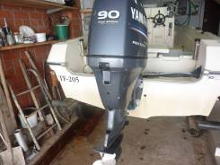Yamaha. 90,00л.с., 4-тактный, бензиновый, нога L (508 мм), 2008 год год