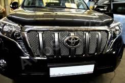Решетка радиатора. Toyota Land Cruiser Prado, GDJ150L, GDJ150W, GDJ151W, GRJ150L, GRJ150W, GRJ151W, KDJ150, KDJ150L, TRJ150L, TRJ150W Двигатели: 1GDFT...