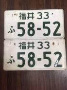 Японский оригинальный номер JDM пара