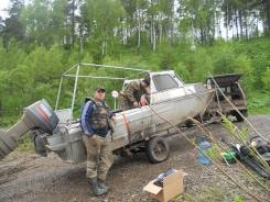 Казанка-2М. длина 5,00м., двигатель подвесной, 50,00л.с., дизель