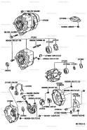 Генератор. Toyota Lite Ace, CR21, CR21G, CR28, CR30, CR30G, CR37 Toyota Town Ace, CR21, CR21G, CR28, CR28G, CR30, CR30G, CR37, CR37G Двигатель 2CT. По...