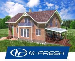 M-fresh Anton style-зеркальный (Проект дома с комнатами на мансарде). 200-300 кв. м., 2 этажа, 5 комнат, кирпич