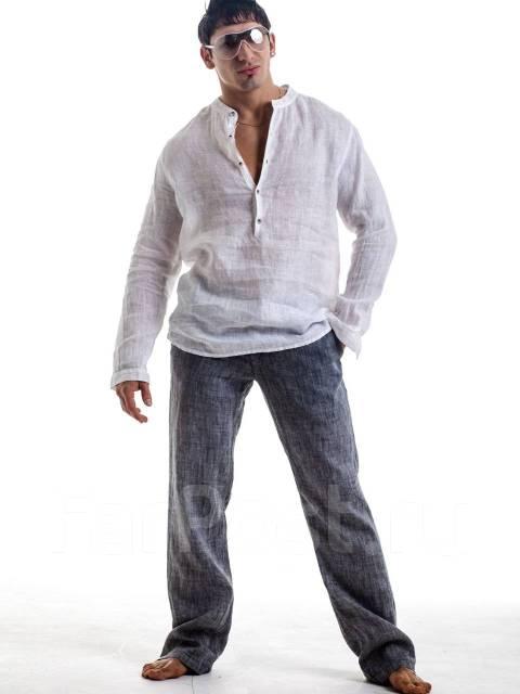 Рубашки муж. льняные скидка 50%. Акция длится до 31 октября