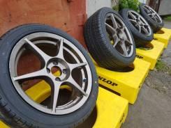 """P1 Racing 16"""" 4*100 на отличной летней резине 205/45R16. 7.0x16"""" 4x100.00 ET45"""