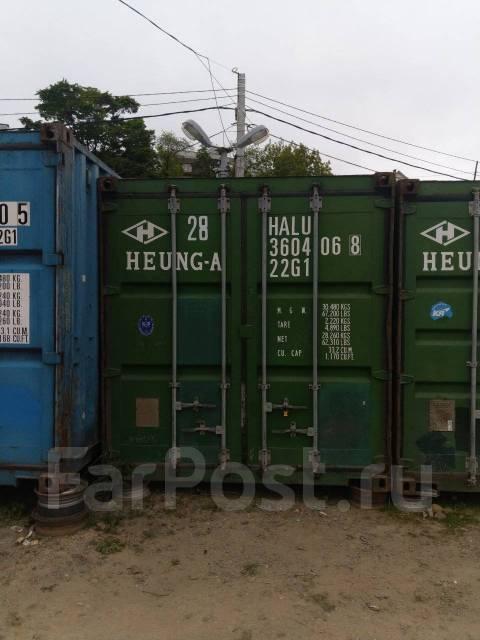Сдам 20 футовый контейнер на охраняемой стоянке в Лен. районе. Вид снаружи