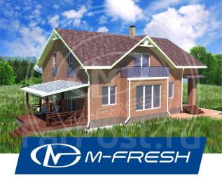 M-fresh Anton style (Мягкая кровля Тегола, витраж в доме). 200-300 кв. м., 2 этажа, 5 комнат, кирпич