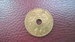 Голландская Ост-Индия 1 цент 1942. Красивая монета.