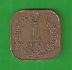 1 цент 1939 г. Британская Малайзия. Редкая.
