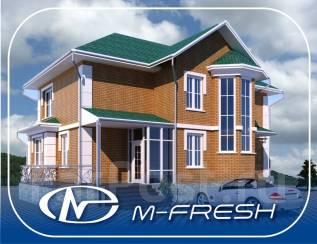 M-fresh Comfort (Готовый проект кирпичного коттеджа). 200-300 кв. м., 2 этажа, 5 комнат, кирпич