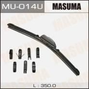 Щетка стеклоочистителя Masuma 14inch 350mm бескаркасная крепление J-hook, Pinch tab, Side pin, Claw, Push button 16мм, Bayonet, Slider, Side mounting...