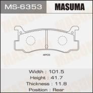 """Колодки дисковые """"Masuma"""" AN-209K то же MS-5139 (1/12)"""