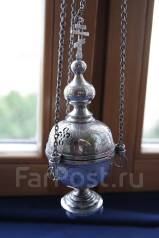 Кадило старинное серебряное. Мастерская В. Ермолова, Россия , конец XIX. Оригинал