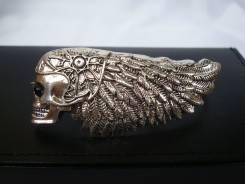 Байкерское мужское кольцо на 4 пальца, ювелирн. сталь, США