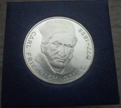 Германия, 5 марок 1977 год, Карл Фридрих Гаусс, серебро