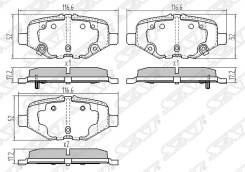 Колодки тормозные зад FORD EXPLORER 3/5 SAT ST-DG1Z2200C