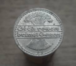50 пфеннигов 1922 год, А, Веймарская республика, состояние