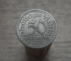 50 пфеннигов 1921 год, Е, Веймарская республика, состояние