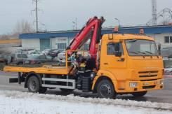 КамАЗ 4308. Эвакуатор Камаз 4308 с КМУ (прямая платформа), 4 430кг.