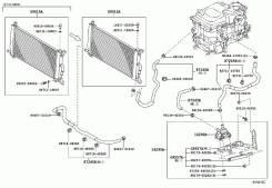 Помпа инвертора. Toyota Harrier, MHU38, MHU38W Lexus RX400h, MHU33, MHU38 Двигатель 3MZFE