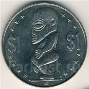 Редкость! Огромный 1 $ 1972 г. Острова Кука. С сертификатом. Тангароа