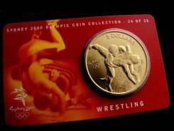 Огромные 5 долларов - Австралия - 2000 Олимпиада - Борьба UNC