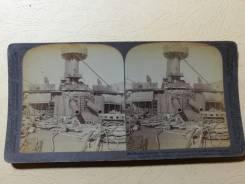 Стереофото. Война-Порт-Артур. Корабль Пересвет. Оригинал