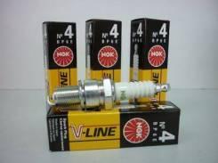 Свеча зажигания NGK V-Line 04 (BP6E) ВАЗ 2101-07, НИВА, Nissan (4шт)