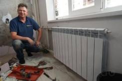 Сантехник: монтаж радиаторов отопления, водонагревателей, душевой, унитаза