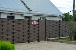 Заборы и ограждения из ДПК в Хабаровске