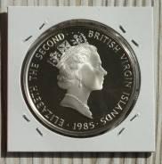 Британские Виргинские острова 20 Долларов 1985 Серебро