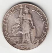 Англия флорин 1904 Edward VII Серебро