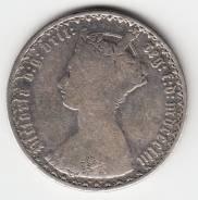 Англия флорин готический 1853 Victoria Серебро
