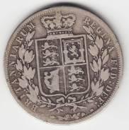 Англия 1/2 кроны 1881 Victoria Серебро