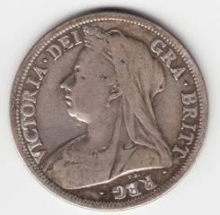 Англия 1/2 кроны 1900 Victoria Серебро