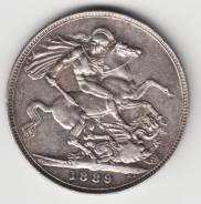 Англия крона 1889 Victoria Серебро