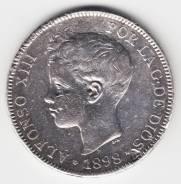 Испания 5 песет 1898 Альфонсо XIII Серебро