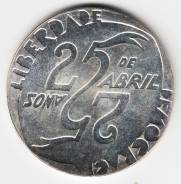"Португалия 1000 эскудо 1999 ""Годовщина революции 25 апреля"" Серебро"