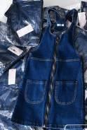 Комбинезон джинсовый, платье джинсовое. 38, 40, 42