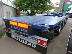 Steelbear. 4-х осный полуприцеп-контейнеровоз PF-41N-6 _SAF Intra готов, 40 800кг.
