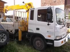 Hyundai Mega Truck. Продается грузовик бортовой с манипулятором, 7 545куб. см., 5 195кг.