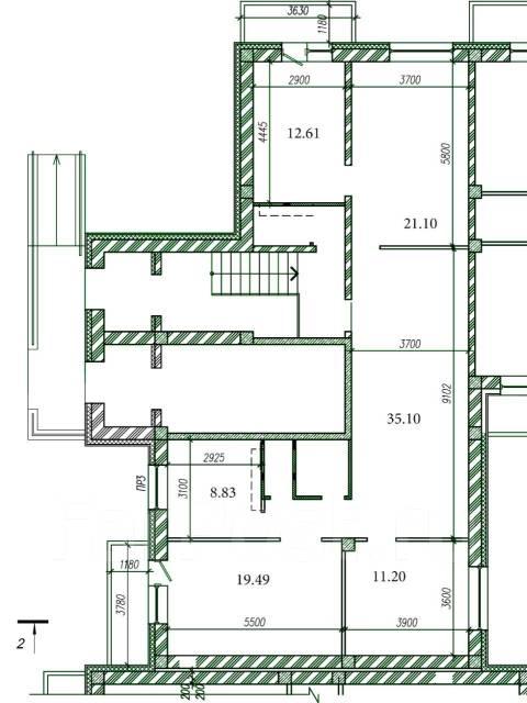 Нежилое помещение с ремонтом 122 м2 на 1 этаже ул. Выгонная,4. Улица Выгонная 4, р-н Междуречье, 122кв.м. План помещения