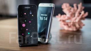 Samsung Galaxy S7 Edge. Новый, 32 Гб, Золотой, Черный, Защищенный, Кнопочный
