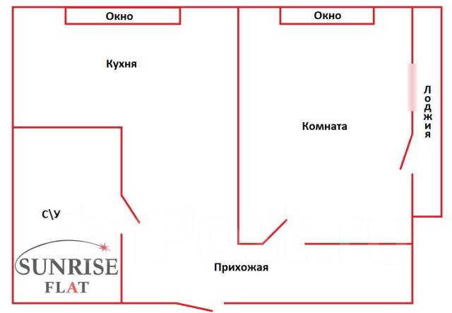 1-комнатная, улица Аллилуева 12а. Третья рабочая, 37кв.м. План квартиры