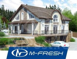 M-fresh Ararat (Проект просторного дома с цоколем на склоне). 400-500 кв. м., 2 этажа, 7 комнат, бетон